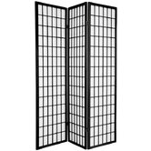 Window Pane Room Divider in Black
