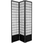 "78"" Window Pane Decorative Room Divider in Black"