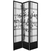 84&quot; Double Cross Bamboo Tree Shoji Room Divider
