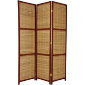 Woven Accent Room Divider in Red Brown