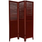 Beadboard 3 Panel Room Divider in Rosewood