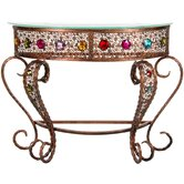 Bejeweled Crescent End Table