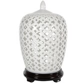 Carved Lattice Decorative Jar