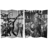 Tall Double Sided Elvis Presley Acoustic Canvas Room Divider