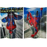 Tall Double Sided Spider-Man Wall Crawler Canvas Room Divider