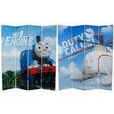 Tall Double Sided Thomas and Harold Canvas Room Divider