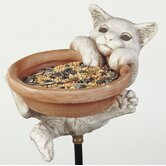 Kitten Bird Stake Feeder