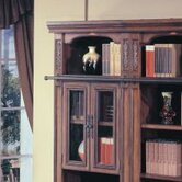 "DaVinci 32"" Glass Bookcase Top in Dark Chestnut"