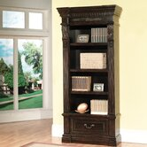 Grand Manor Palazzo Museum Bookcase in Vintage Burnished Black