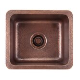 Como Square Hand Hammered Solid Copper Prep Sink