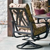 Villa Swivel Dining Arm Chair with Cushion