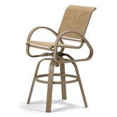 Aruba II Bar Height Swivel Caf&eacute; Chair