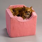 Luxury Lookout I Pet Car Seat in Pink Microsuede