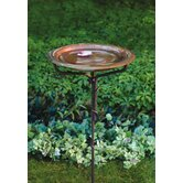 Solid Copper Birdbath