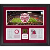 Alabama Crimson Tide Back to Back BCS National Champions Framed Mini Panoramic Collage
