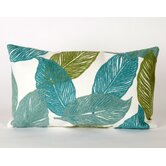 Mystic Leaf Rectangle Indoor/Outdoor Pillow in Aqua