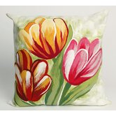 Tulips Square Indoor/Outdoor Pillow in Warm
