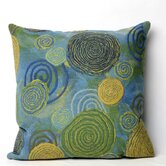 Graffiti Swirl Square Indoor/Outdoor Pillow in Cool