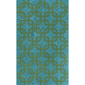 Spello Chains Aqua Outdoor Rug