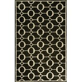 Spello Arabesque Black Outdoor Rug