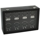 Heritage Module 2.1 Eight Piece Watch Winder with Cover in Black
