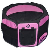 Octagon Pet Pen with Removable Top in Pink