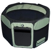 Octagon Pet Pen with Removable Top in Sage