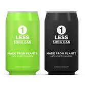 One Less 2-Pack Soda Can Water Bottle