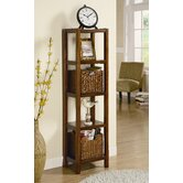 55&quot; Etagere with Two Accent Baskets
