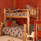 Silver Creek Twin over Full Bunk Bed with Built-In Ladder