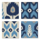 Home Décor Alternating Ikat 4 Piece Graphic Art on Canvas Set