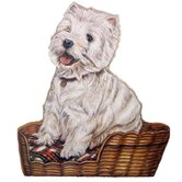 Westie Wooden Decorative Dog Doorstop