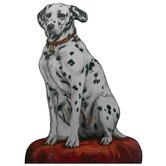 Dalmatian Wooden Decorative Dog Doorstop