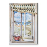 Seascape Wooden Faux Window Scene
