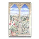 Tuscany Wooden Faux Window Scene