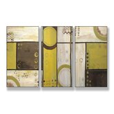 Industrial Circles Triptych Wall Art