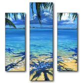 Palm Tree Shadows Triptych Wall Art