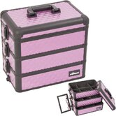 Interchangeable Stackable Tray Cosmetic Makeup Train Case