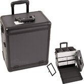 Dot Pattern Interchangeable Professional Rolling Makeup Train Case