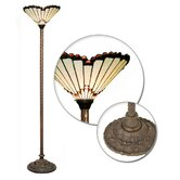 White Jewel Torchiere Lamp
