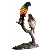 Exotic Birds Accent Table Lamp