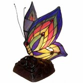 Yellow Butterfly Accent Table Lamp