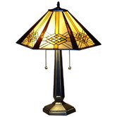 "Mission 23"" H Table Lamp with Empire Shade"