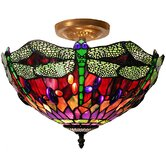 Dragonfly Ceiling 1 Light Semi Flush Mount