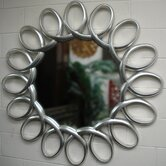Ferris Round Contemporary Framed Mirror