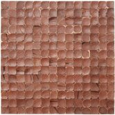"17"" x 17"" Coconut Mosaic Tile in Brown Luster"