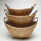 Baskets Hyacinth Basket (Set of 3)