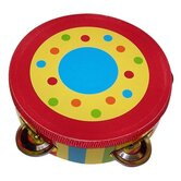 Kid's Striped Tambourine