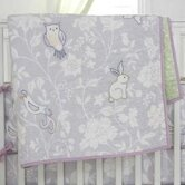 Bird of Paradise Print / Embroidery Crib Quilt