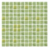 "Spongez S-Green 1"" x 1"" Recycled Glass Mosaic in Green"